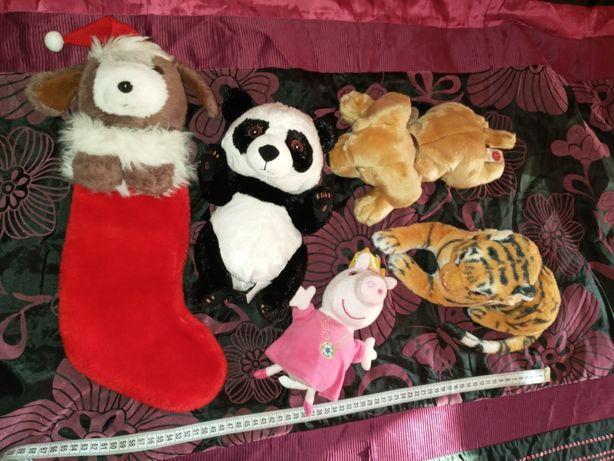 Мягкие игрушки собачка тигр новогодний сапожок