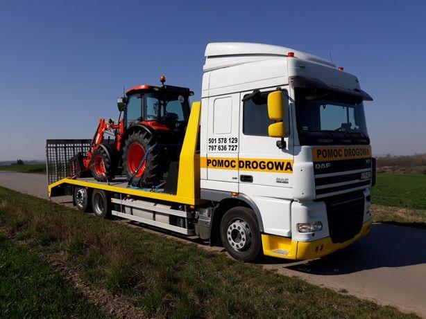 Transport maszyn- 15 ton, laweta z wciągarką, Kraków-Proszowice-Polska