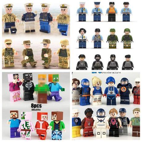 Фигурки, человечки пираты, мстители, майнкрафт,спецназ лего lego анало