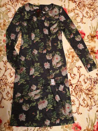 Платье ангора софт розы р. 42-44