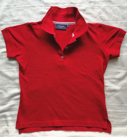 Polo básico Quebramar vermelho XS