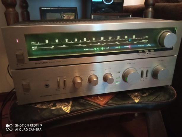 Amplificador e tuner Pioneer.