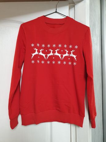 Свитшот свитер с оленями family look