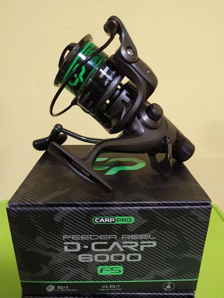 Набір.Катушка Carp Pro D-CARP Feeder 6000 Fs + 300м Лески в подарунок.