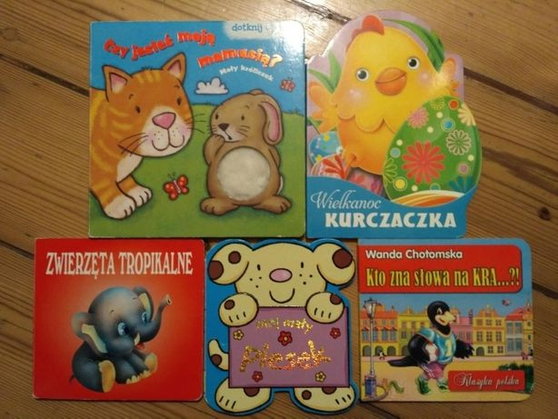 Zestaw książek dla maluszka twarde kartki