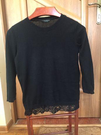 Sweterek 36 38 40 sweterek minimalistyczny koronka 3/4 rękaw