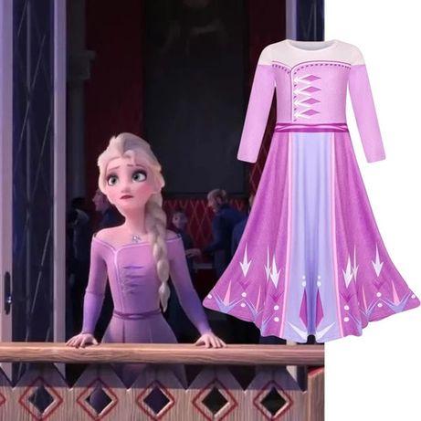 FROZEN 2 Vestido Princesa ELSA Lilás/Rosa - 6, 7, 8, 9 anos - NOVO