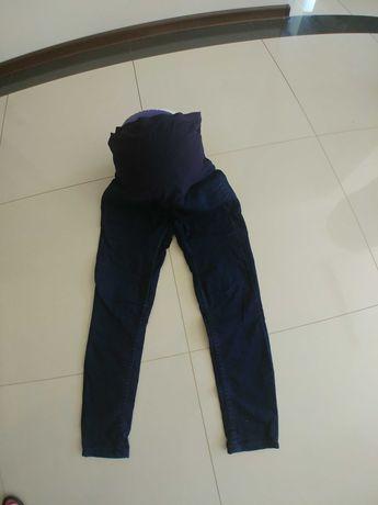 Spodnie ciazowe h&m mama 36 granat jeans