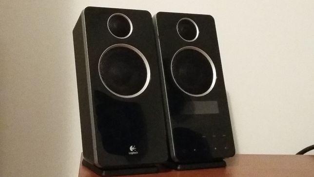 Colunas para PC Logitech 32W. Estas colunas tĕm um grande som!