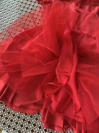 Sukienka na wesele , studniówkę, czerwona NOWA 38