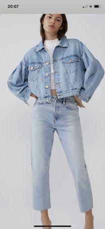 Sorzedam kurtke jeansowa z bufiastym rekawem L