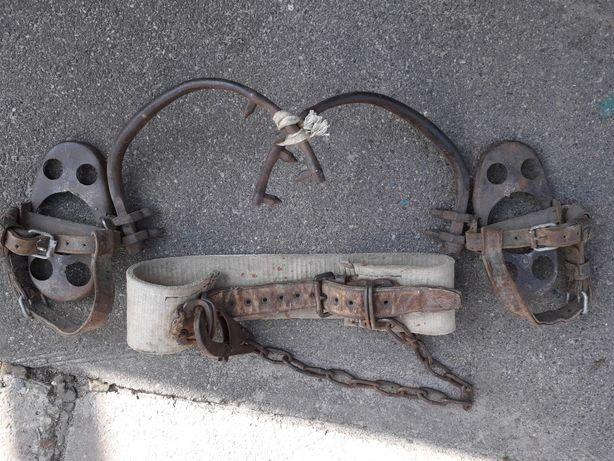Пояс монтажника - електрика  з кігтями для  підйому на дерева і стовпи