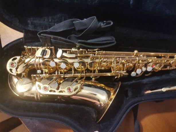 Saksofon antiqua 4240 alt profesjonalny Antigua pasek futerał Sax yas