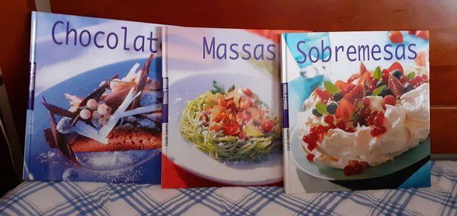 8 livros de cozinha como novos