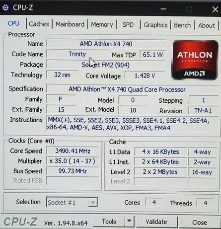 Продам amd atlon x4 740 c asus a55bm-k и 12gb ddr3 оперативы