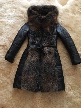Куртка,пуховик. Натуральна шкіра. Xs