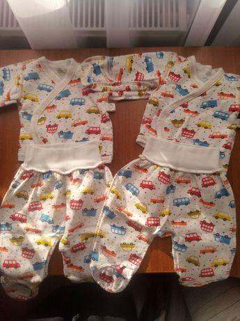 Одежда для двойни,  близнецов, шапки,  человечки,ползунки, распашенки
