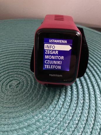 Tomtom Runner 3 GPS różowy pomarańczowy