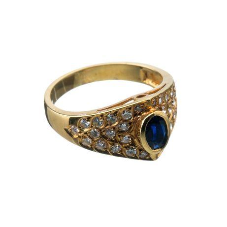 Anel Ouro Diamantes 2