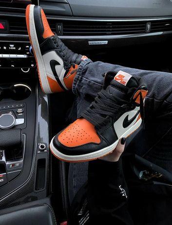 Женские кроссовки Nike Air Jordan 1 Retro Orange найк джордан