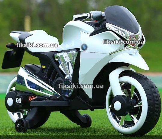 Детский мотоцикл электромобиль 3682 WHITE, Дитячий електромобiль