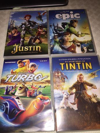 DVDs - Justin, Epic, Turbo, Tintin