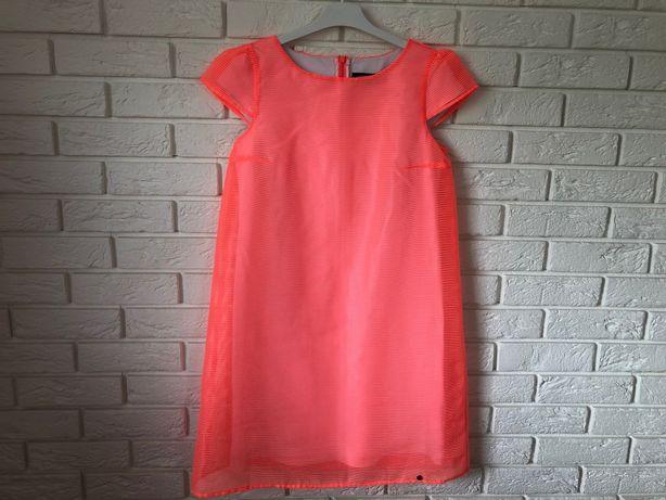 Sukienka SIMPLE 36 neonowa koralowa różowa