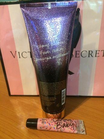 Набор виктория сикрет Victoria's secret лосьон для тела блекс для губ