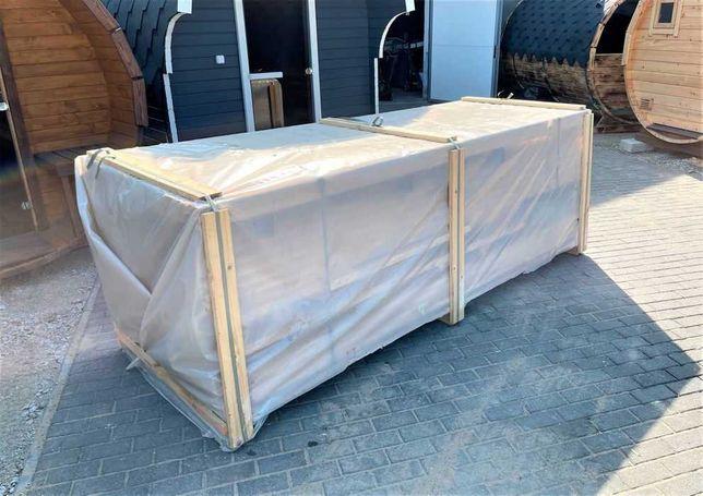 Sauna zestaw do montażu z cedru wzór Beczka 3m