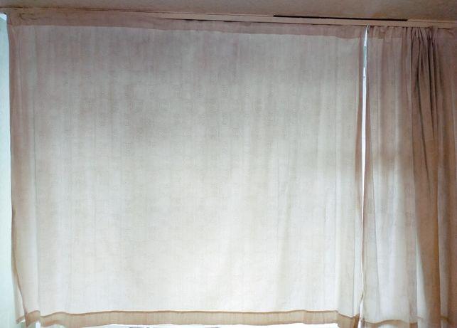 Английские серые шторы 2*1,7м×2шт, тюль 3*1,7м, занавески 1*0,5м*2шт