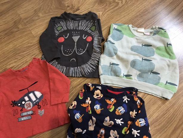 Ubrania, bluzki, koszule, rampersy, body rozmiar 74-82