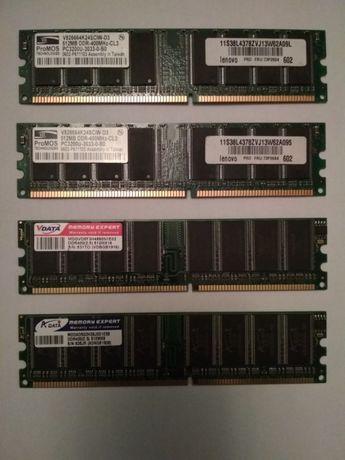 Оперативна память ОЗУ ProMOS 2x512MB DDR-400 CL3+V-DATA512MB+HYNIX 1Gb