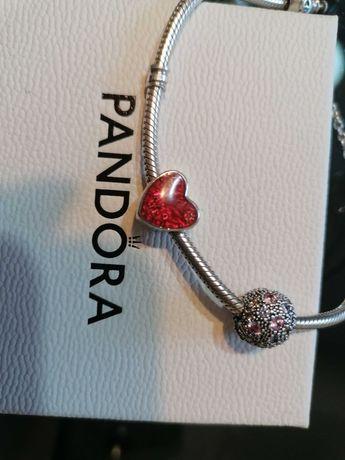 Pandora Klips różowa galaktyka i serce wyznanie miłości