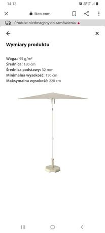 Parasol ogrodowy / balkonowy IKEA