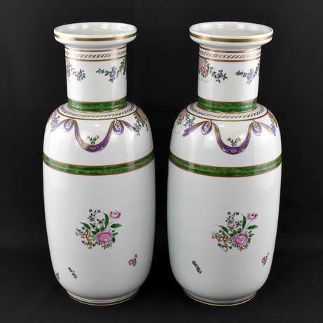 Par de Talhas / Jarrões em porcelana Vidal Arte, pintados à mão