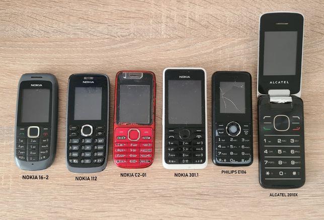 komplet 8 szt. telefon komórkowy Alcatel Nokia Philips Qsmart