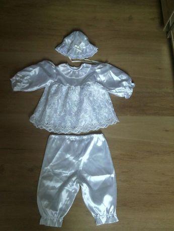 ubranko do chrztu dla dziewczynki komplet
