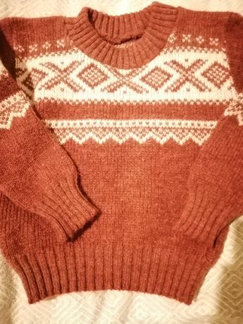 Sweter, sweterek wełniany wool 92
