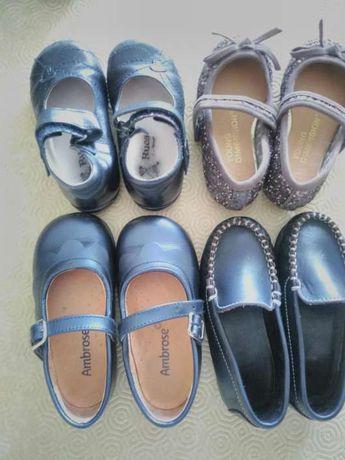 Lote 4 sapatos menina último preço