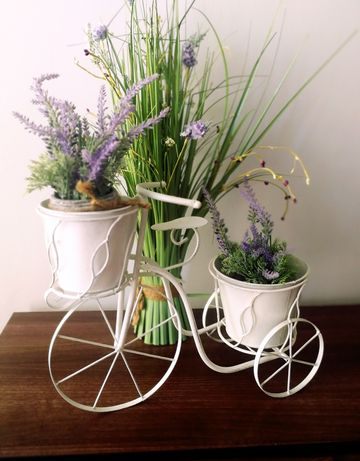 Rower doniczki na kwiaty retro home & you