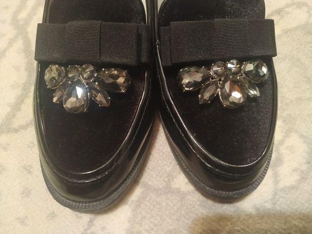 Туфли школьные нарядные  21,5 см стелька