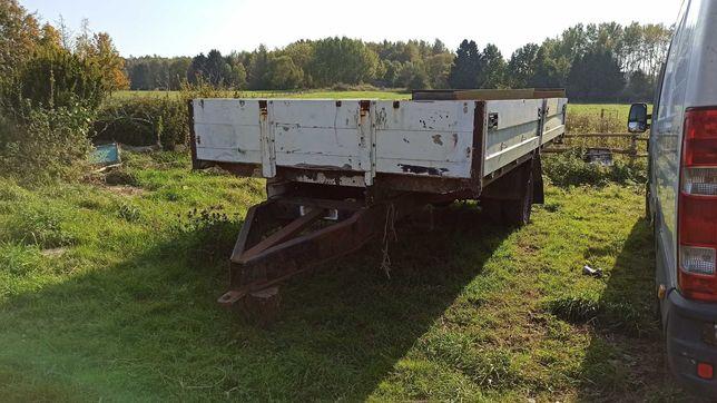 Przyczepa rolnicza jednoosiowa duża kiper do ukończenia