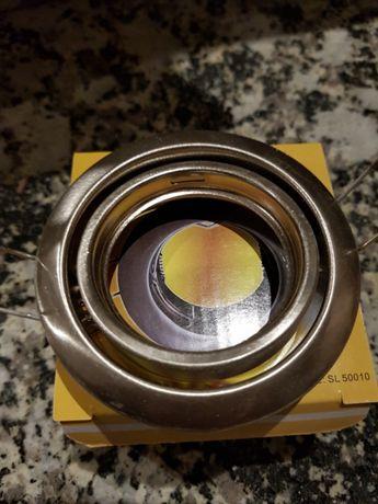 Aro redondo orientável com mola para lâmpadas GU10/MR16 aço escovado