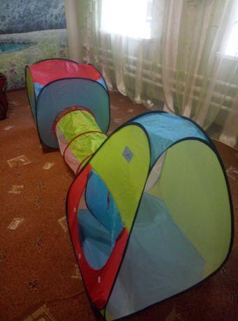 Палатка детская игровая с тоннелем 250х90х80 см