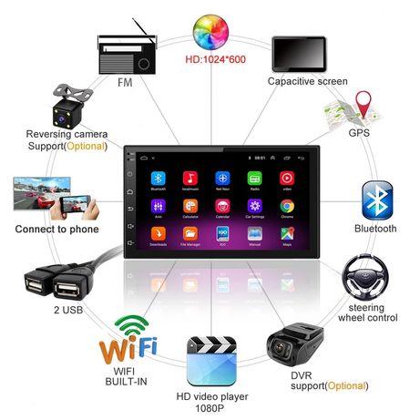 Radio 2 din 7 cali Android 8.1 GPS WiFi