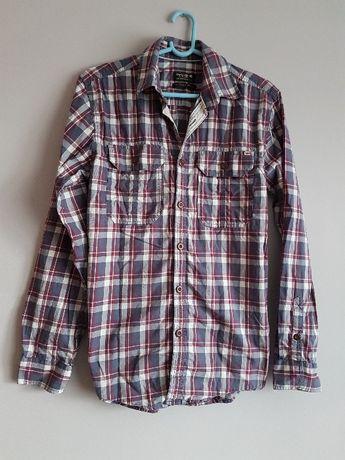 koszula męska S w kratę kratkę oryginalna Jack&Jones Vintage rock