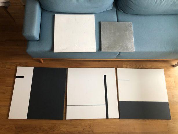 5 obrazów na płótnie minimalizm kwadrat