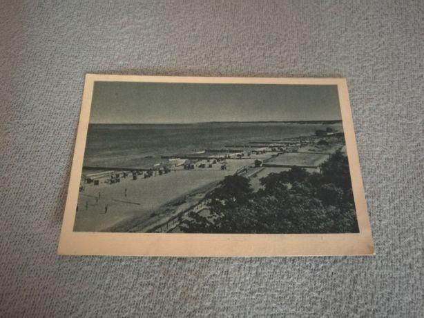 Pocztówka Bałtyk plaża w Ustce