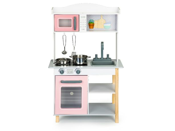 Drewniana kuchnia kuchenka dla dzieci + akcesoria do gotowania # 7255