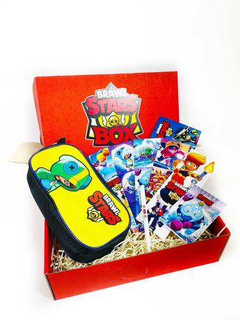 Подарочный набор Brawl Stars Пенал Леон Бравл Старс Подарок для школы